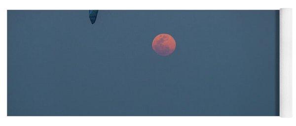 Kitesurfer Moon Delray Beach Florida Yoga Mat