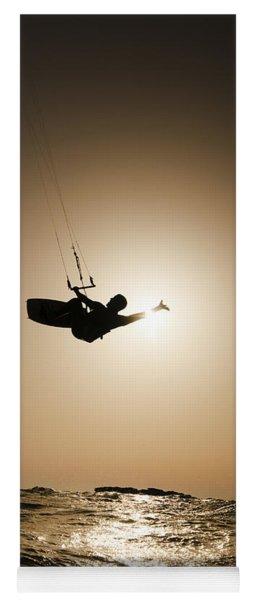 Kitesurfing At Sunset Yoga Mat