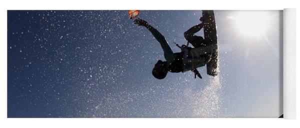 Kitesurfing In The Mediterranean Sea  Yoga Mat