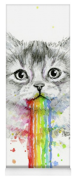 Kitten Puking Rainbows Yoga Mat