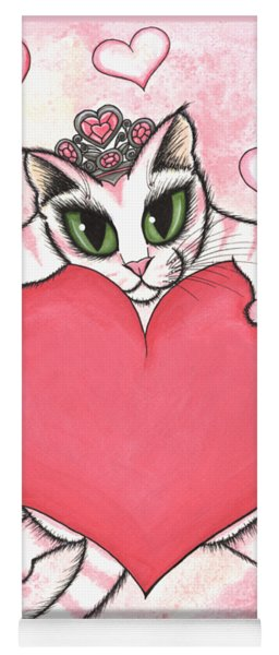 Kitten With Heart Yoga Mat