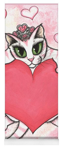 Kitten With Heart Yoga Mat