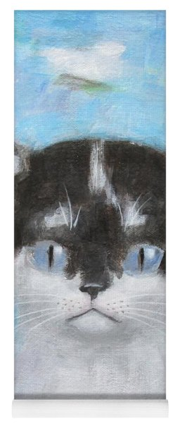 Kitten With Three Clouds Yoga Mat