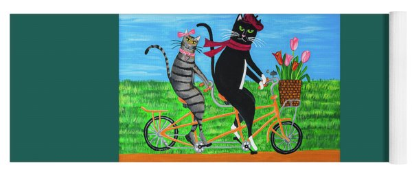 Kitty Cat Outing Yoga Mat