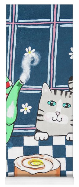 Kitty Cat Tea Time Yoga Mat