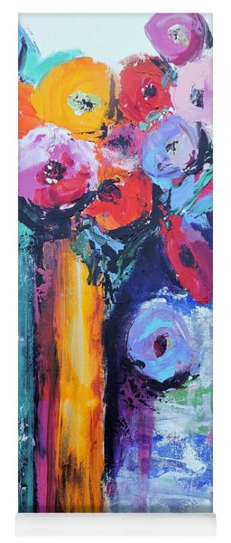 Knife Painted Bouquet Yoga Mat
