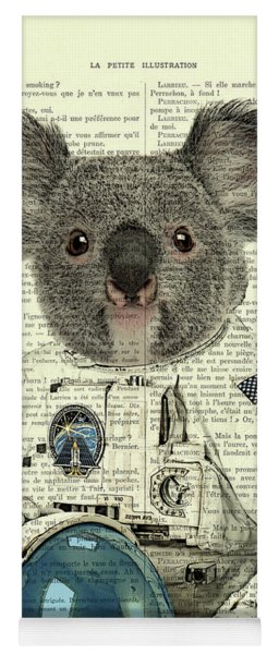 Koala In Space Illustration Yoga Mat