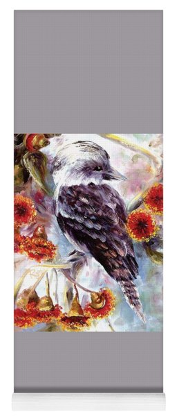 Kookaburra In Red Flowering Gum Yoga Mat