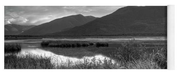 Kootenay Marshes In Black And White Yoga Mat