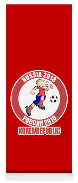 Korea Republic In The Soccer World Cup Russia 2018 Yoga Mat