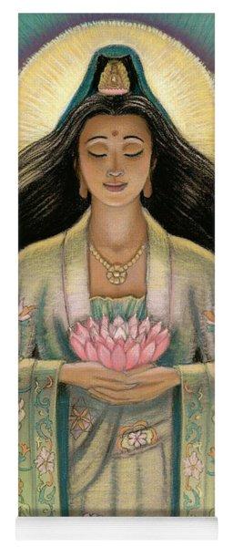 Kuan Yin Pink Lotus Heart Yoga Mat