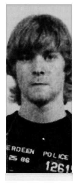 Kurt Cobain Mug Shot Vertical Black And Gray Grey Yoga Mat