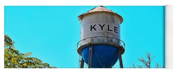Kyle Texas Water Tower Yoga Mat