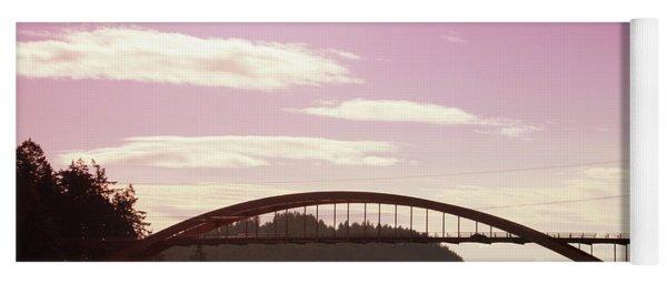 La Conner Rainbow Bridge-  By Linda Woods Yoga Mat