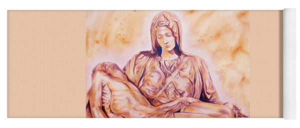 La Pieta By Michelangelo Yoga Mat