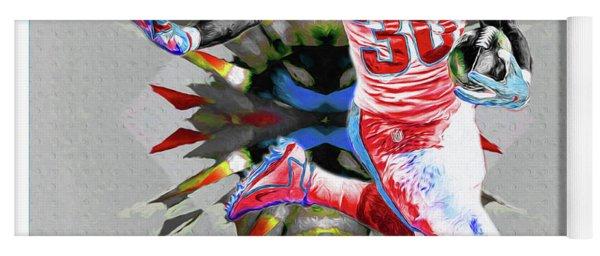 La Rams Paint Todd Gurley 5b Yoga Mat