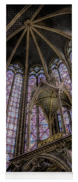 Paris, France - La-sainte-chapelle - Apse And Canopy Yoga Mat