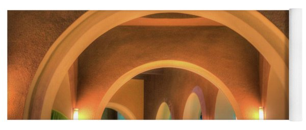 Yoga Mat featuring the photograph Labyrinthian Arches by T Brian Jones