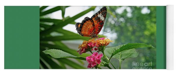 Lacewing Butterfly Yoga Mat