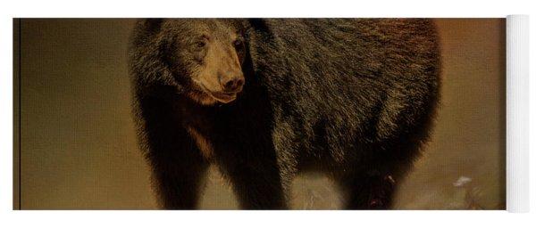 Black Bear In The Fall Yoga Mat