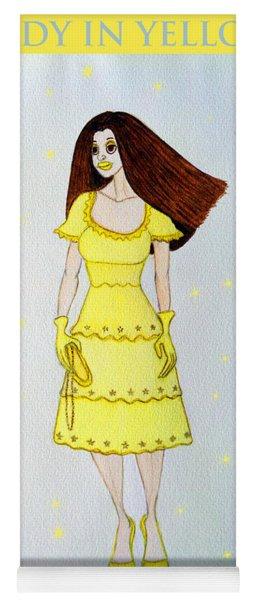 Lady In Yellow Yoga Mat