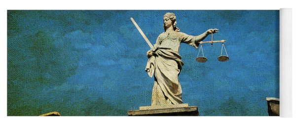 Lady Justice. Streets Of Dublin. Painting Collection Yoga Mat