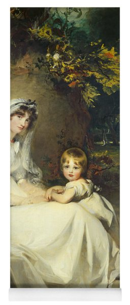 Lady Mary Templetown And Her Son Yoga Mat