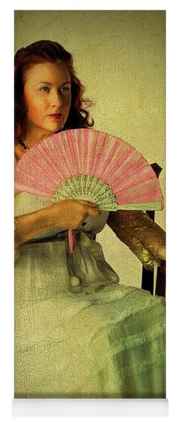 Lady With A Fan Yoga Mat