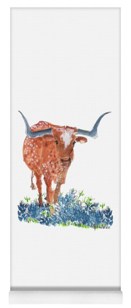 Ladybug In The Bluebonnets Lh002 By Kmcelwaine Yoga Mat