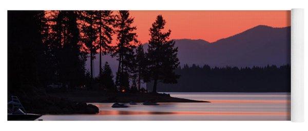Lake Almanor Twilight Yoga Mat