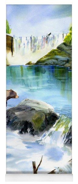 Lake Clementine Falls Bear Yoga Mat