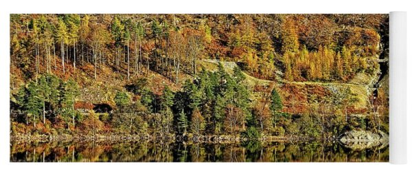 Lake District Autumn Tree Reflections Yoga Mat