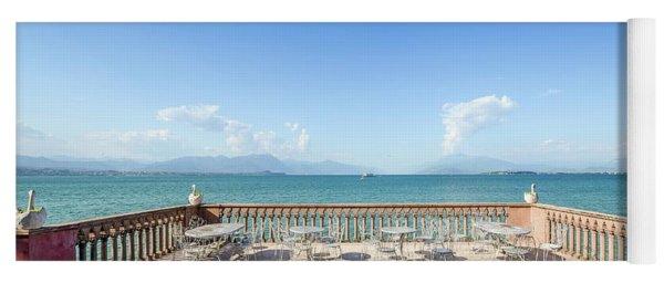 Lake Garda, Italy Panorama Yoga Mat