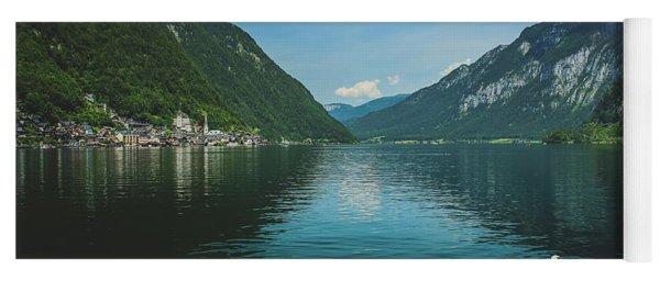 Lake Hallstatt Swans Yoga Mat