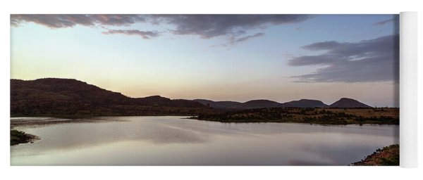Yoga Mat featuring the photograph Lake In The Wichita Mountains  by Todd Aaron