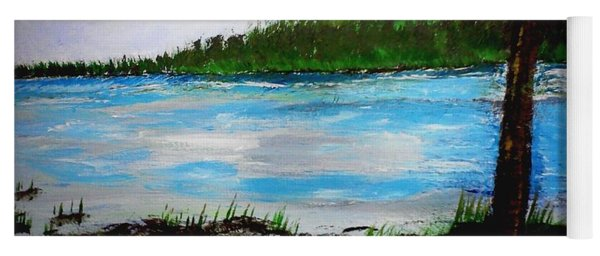 Yoga Mat featuring the painting Lake In Virginia The Painting by Jimmy Clark