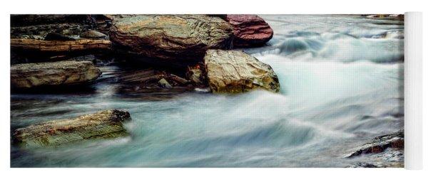 Lake Mcdonald Falls, Glacier National Park, Montana Yoga Mat