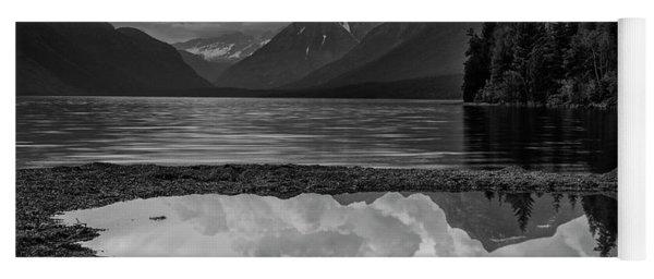 Lake Mcdonald Sunset In Black And White Yoga Mat