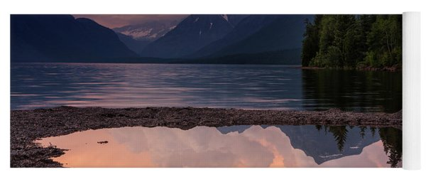 Lake Mcdonald Sunset Yoga Mat