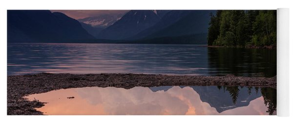 Lake Mcdonald Sunset Yoga Mat