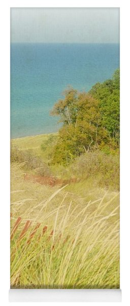 Yoga Mat featuring the photograph Lake Michigan Dune View by Michelle Calkins