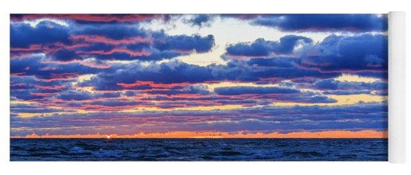 Lake Michigan Windy Sunrise Yoga Mat
