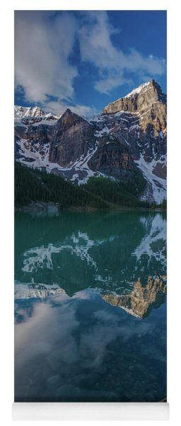 Lake Moraine Peaks Reflection Yoga Mat