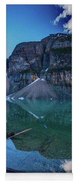 Lake Moraine Reflection Logscape Yoga Mat