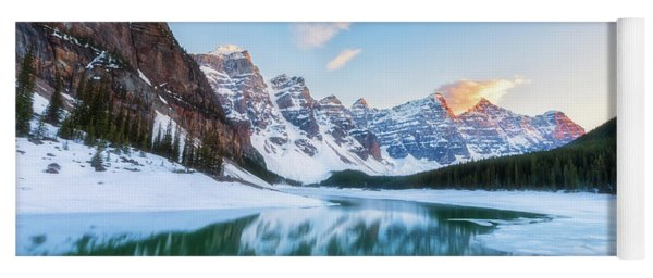 Lake Moraine Sunset Yoga Mat