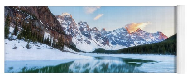 Lake Moraine Sunset Yoga Mat
