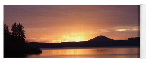 Lake Quinault Sunset Yoga Mat