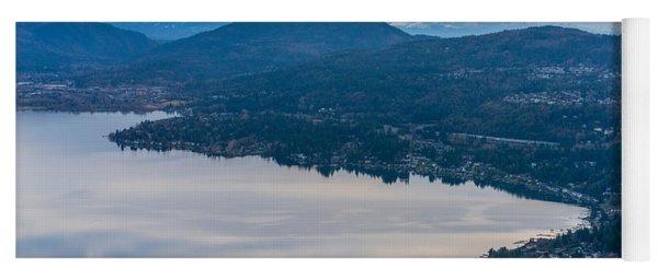 Lake Sammamish Towards Issaquah And Rainier Yoga Mat
