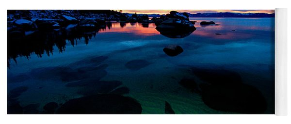 Lake Tahoe Clarity At Sundown Yoga Mat
