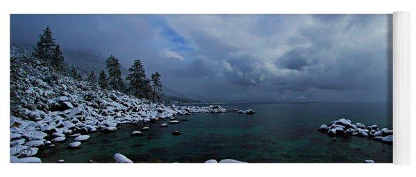 Lake Tahoe Snow Day Yoga Mat